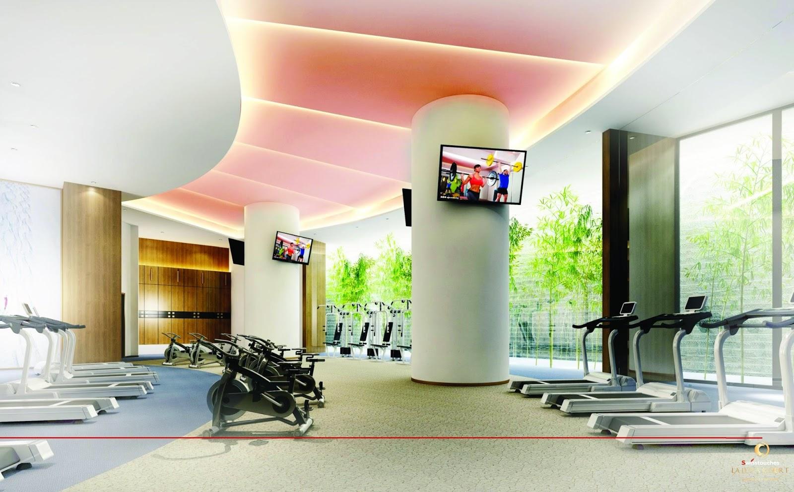 Phòng tập gym hiện đại của La Luna Resort Nha Trang