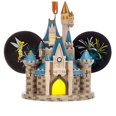 Cinderella Castle Light-Up Ear Hat Ornament, Holiday Gift guide for Disney Moms