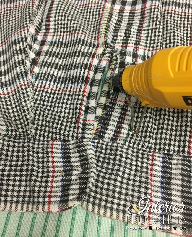 Flannel Shirt Sleeve Cuff for DIY Fall Wreath