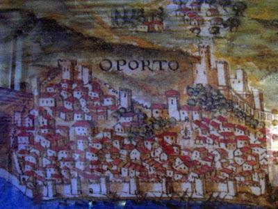 Ilustração do Porto no Centro Interpretativo dos Descobrimentos na Casa do Infante