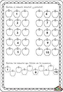 como enseñar los números del 1 al 10
