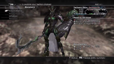 Final Fantasy XIII-2 monster taming Odin