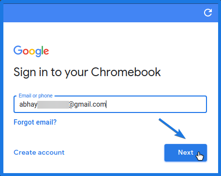 Sign in to your Chromebook