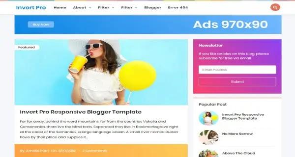 template blog porsonal, berita, sederhana