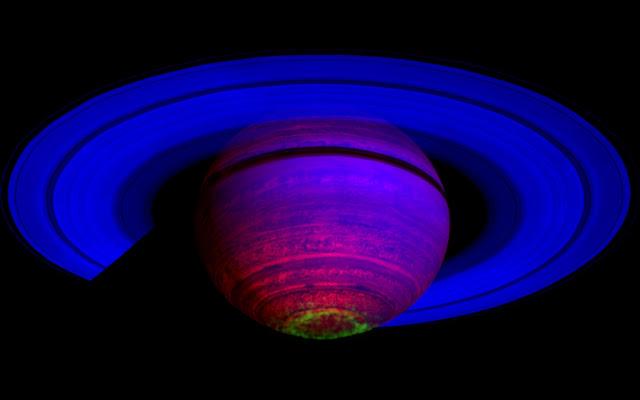 Cực quang của Sao Thổ. Hình ảnh: NASA/JPL.