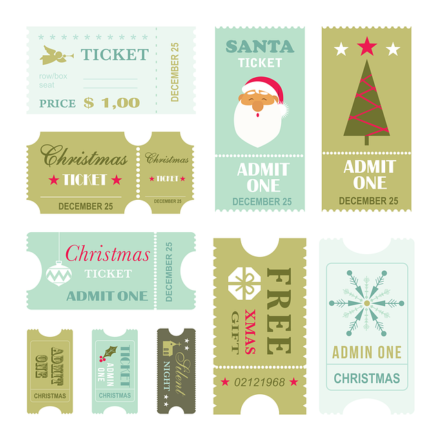 free printable download christmas ticket stickers