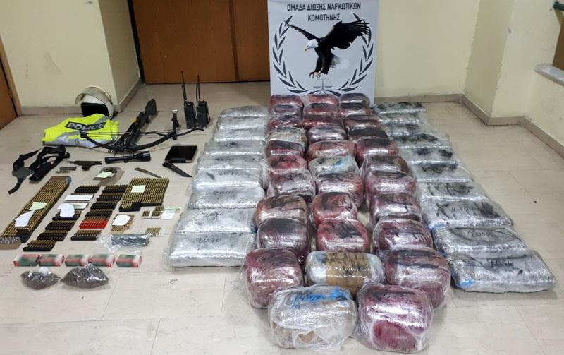 Συνελήφθησαν 4 άτομα που θα μετέφεραν μέσω Έβρου 115 κιλά κάνναβης στην Τουρκία