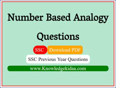 Number Based Analogy Previous Year Questions ( संख्या पर आधारित सादृश्यता )