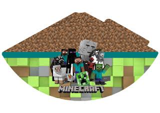 Gorro para Imprimir Gratis de Fiesta de Minecraft.