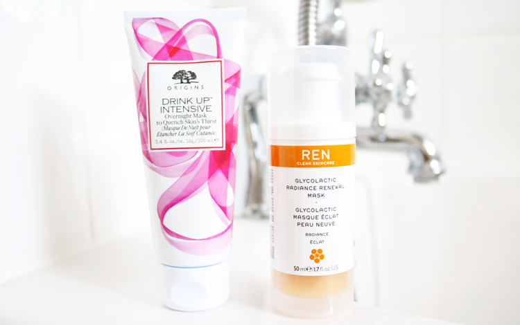 Origins Drink Up Intensive Overnight Mask & REN Glycolactic Radiance Renewal Mask