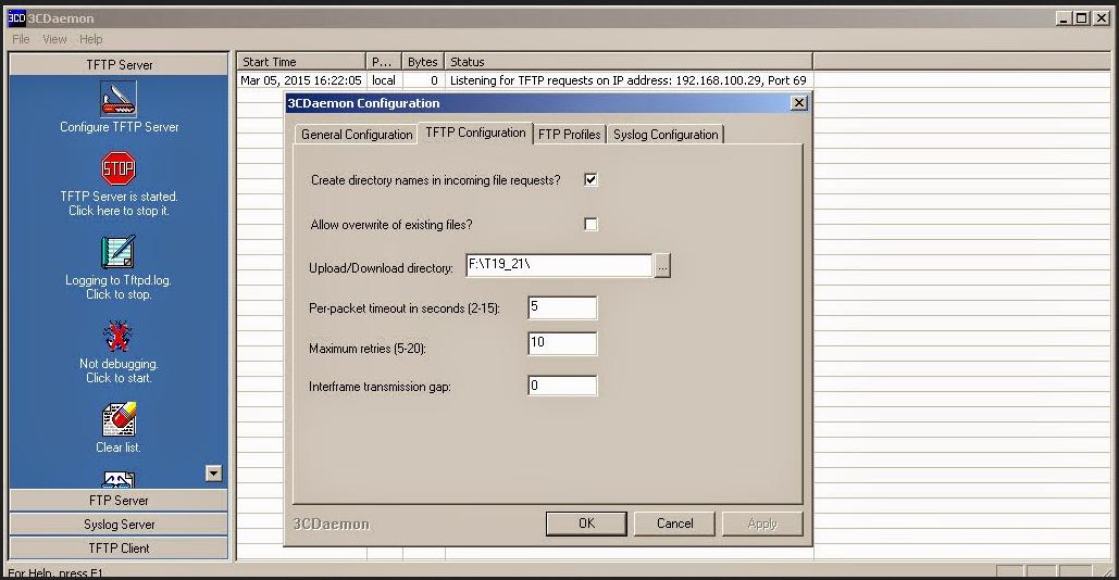 3cdaemon TFTP Server And TFTPD32 | Voip SIP CLient