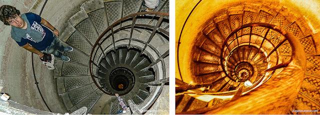 Escadaria de acesso ao terraço do Arco do Triunfo, Paris