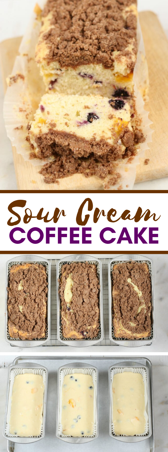 EASY SOUR CREAM COFFEE CAKE #desserts #sweets