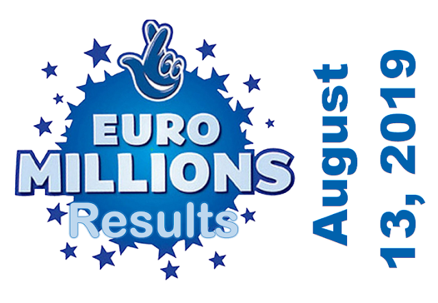 EuroMillions Results for Tuesday, August 13, 2019