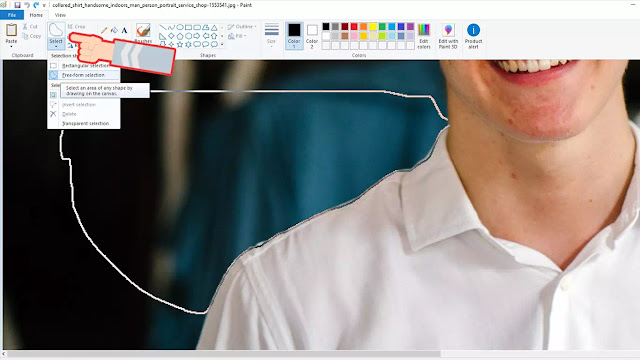 cara menghapus backgroud gambar di microsoft paint