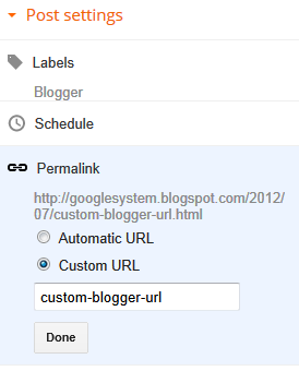 Tips SEO Blogger  – Permalinks