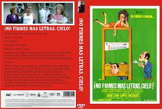 Carátula dvd: No firmes más letras cielo