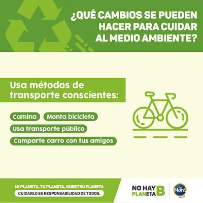 Cuida planeta usa bicicleta