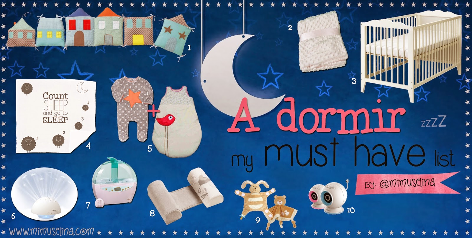 A dormir bebe must have list. Duerme bebe