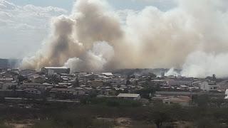 Fumaceiro toma conta de Nova Palmeira e assusta moradores