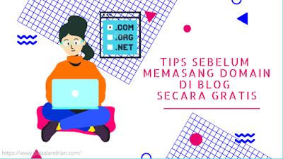 Memasang domain di blog