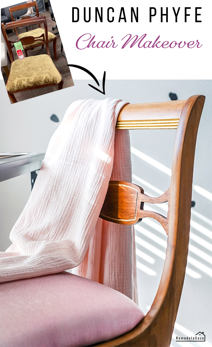 A thrifty chair gets a glam makeover -