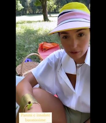 Caterina Balivo oggi Picnic Villa Borghese parco Roma 13 giugno