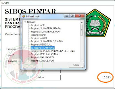 Download Update SIBOS PINTAR Kemenag (24 September 2018)