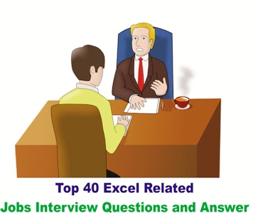 Top 40 Excel Related Jobs Interview Questions and Answer in Hindi