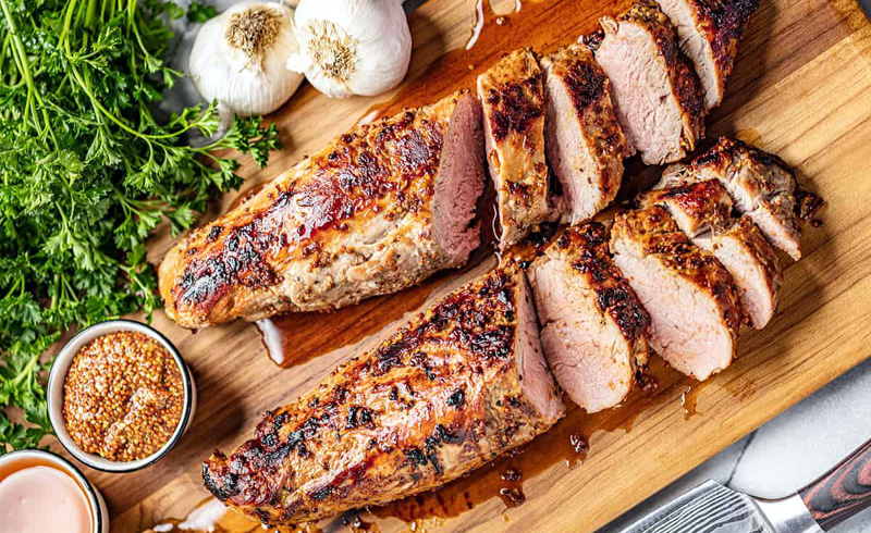 Honey Dijon Roasted Pork Tenderloin