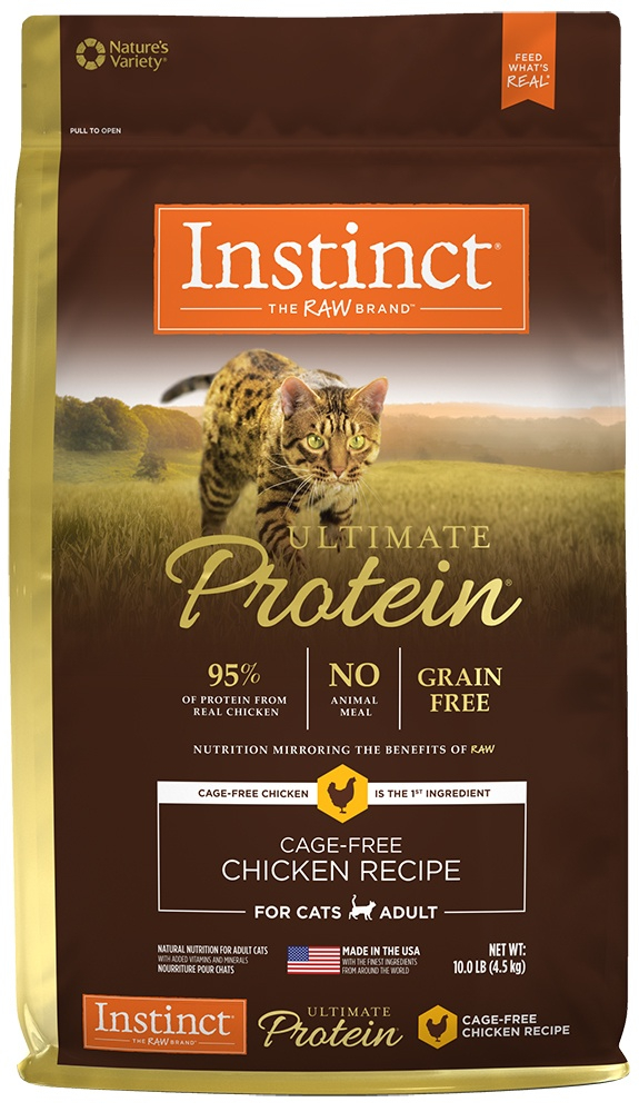 Ultimate Protein Adult Grain Free Cage Free Chicken Recipe Natural Dry Cat Food