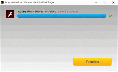 Termina installazione flash