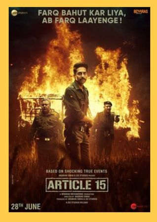 article 15 ayushman Khurana upcoming movie, review, cast, release date