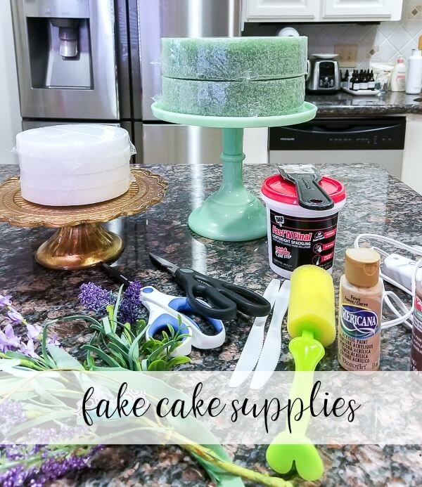 fake cake supplies