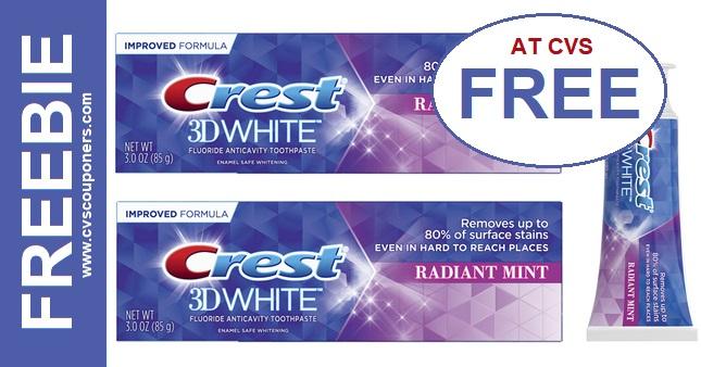 FREE Crest 3D White Toothpaste CVS Deal 98-914