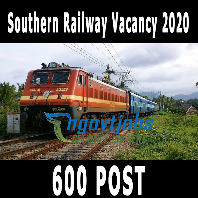 Southern Railway Vacancy 2020