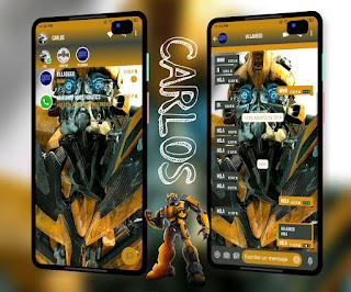 Robot Yellow Theme For YOWhatsApp & Fouad WhatsApp By Carlos