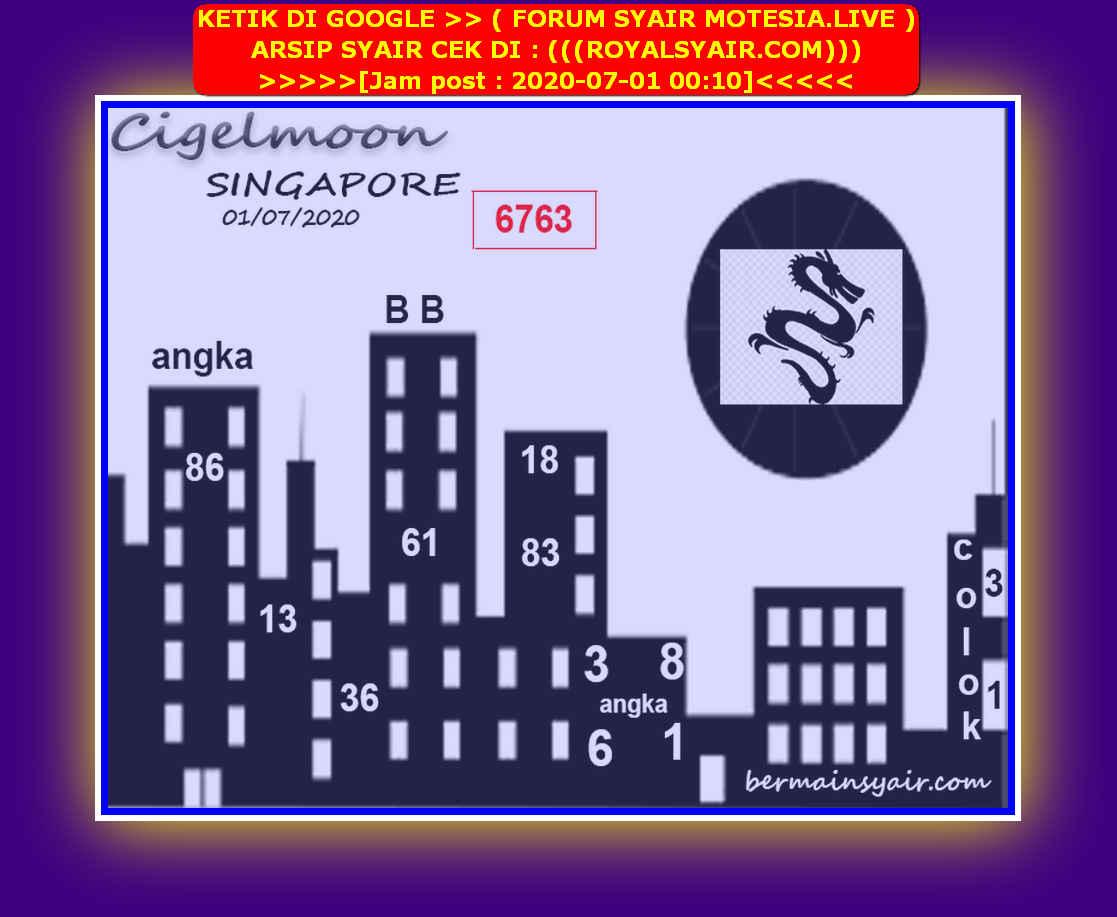 Kode syair Singapore Rabu 1 Juli 2020 211
