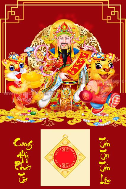 Bìa lịch tết hổ vàng năm 2022