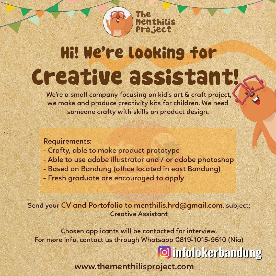 Lowongan Kerja The Menthilis Project Bandung Agustus 2019