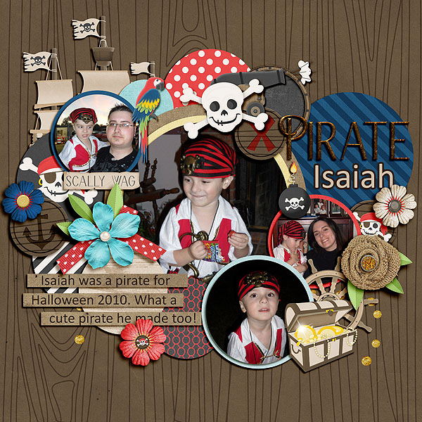 Digital Scrapbooking Pirate Photos