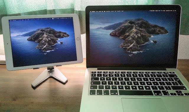 iPadとMacbookを同期させている