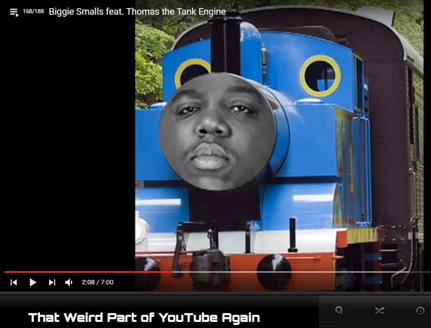 Funny Biggie Smalls Thomas the Tank Train Image