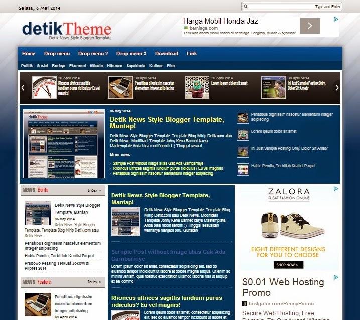 Template Blog Mirip Detik