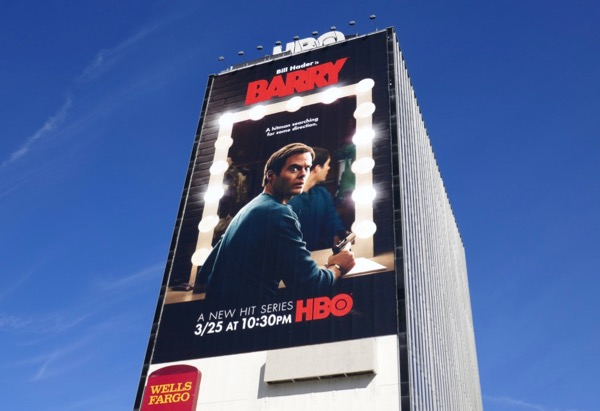 Giant Bill Hader Barry HBO series billboard