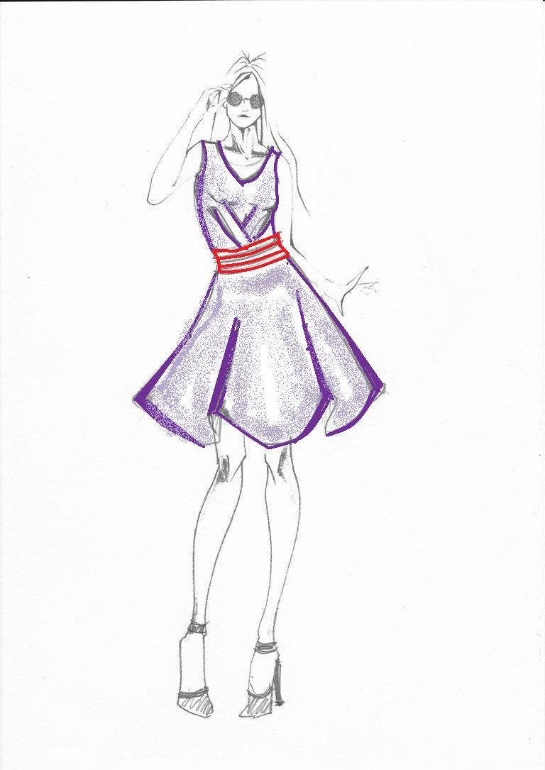 3ba7234bf2fc Disegni Da Colorare Vestiti Facili Alla Moda