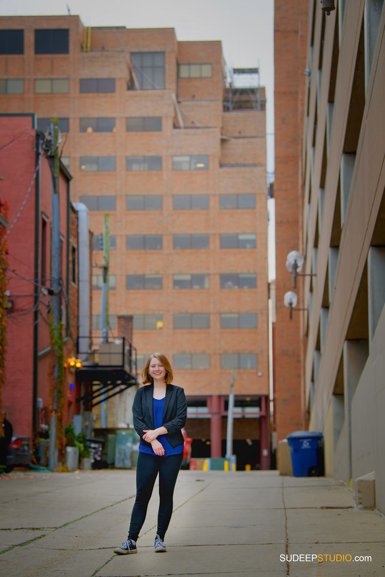 Ann Arbor Senior Pictures for Girls Skyline School in Urban Downtown Ann Arbor Senior Portrait Photographer