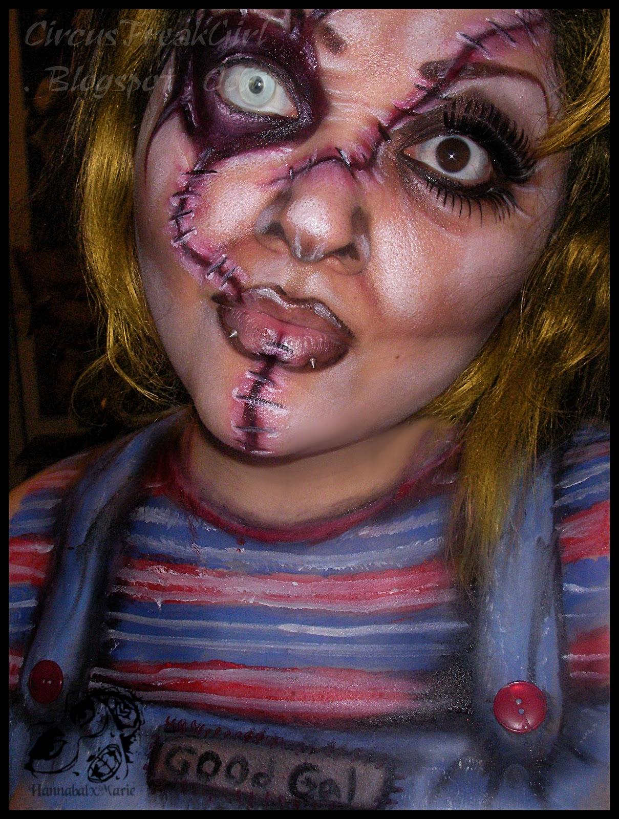 Hannabal Marie: Female Chucky Makeup Look