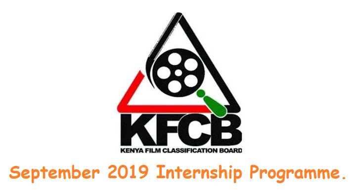 Kenya Film Classification Board (KFCB) September 2019 Internship Programme