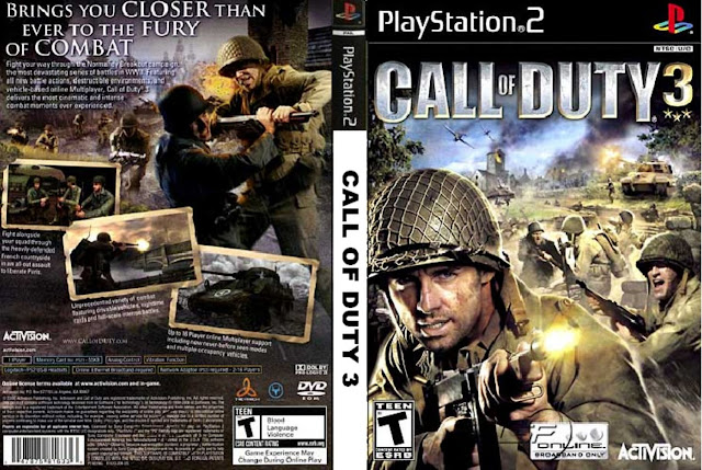 Descargar Call of Duty 3 ps2 iso NTSC-PAL: Es la tercera entrega de la serie de videojuegos Call of Duty. El título fue publicado al mercado tanto en las consolas de séptima generación (Xbox 360, PlayStation 3 y Wii) como en Xbox y PlayStation 2.